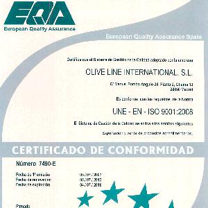Сертификат качества ISO 9001:2008